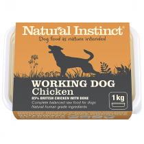 Natural Instinct Working Dog Raw Food. Chicken