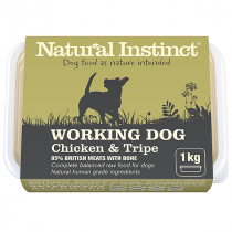 Natural Instinct Working Dog Raw Food. Chicken & Tripe