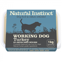 Natural Instinct Working Dog Raw Food. Turkey
