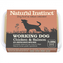 Natural Instinct Working Dog Raw Food. Chicken & Salmon
