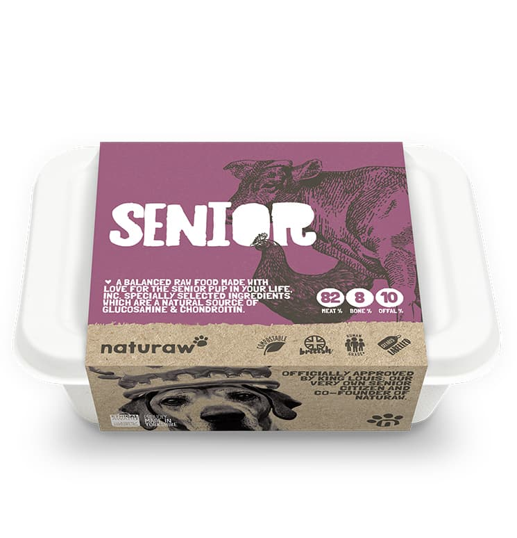 Naturaw Raw dog food. Senior 500g