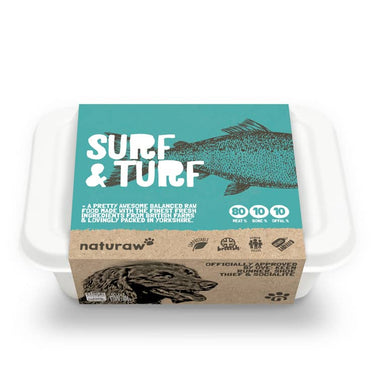 Naturaw Raw dog food. Surf & Turf 500g