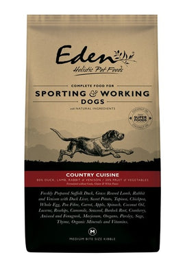 Eden Country Cuisine working and sporting dog food 15kg