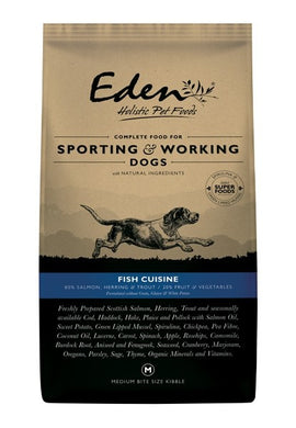 Eden Fish Cuisine working and sporting dog food 15kg