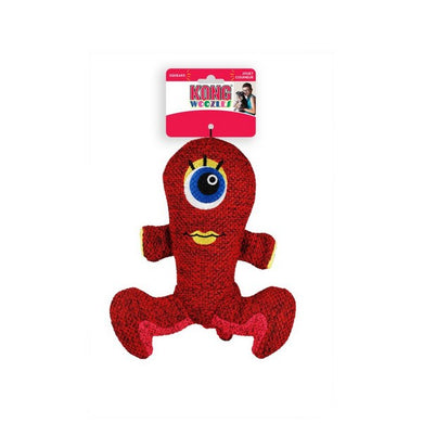 Kong Woozle plush toy. red
