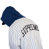 SUPREME Denim Hooded Baseball Shirt