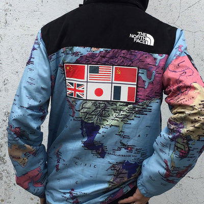 SUPREME x NORTH FACE Worldwide Map Jacket