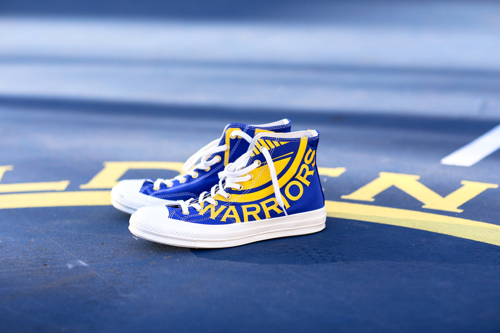 37fec5d80154 Converse x NBA Golden State Warriors Gameday Chuck Taylor All Star 70 Hi.  Royal