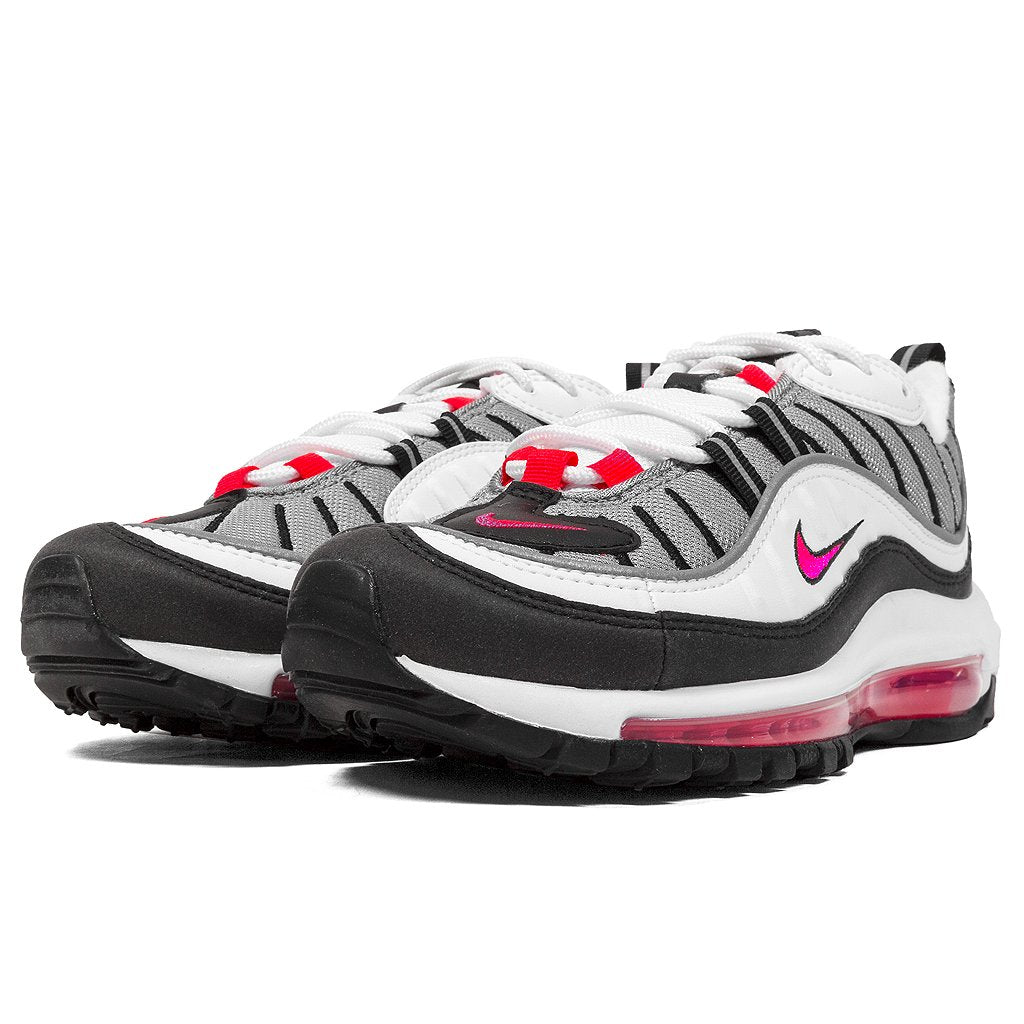 lowest price 154b8 d9ca4 Womens Nike Air Max 98 White Solar Red Available in Store ...