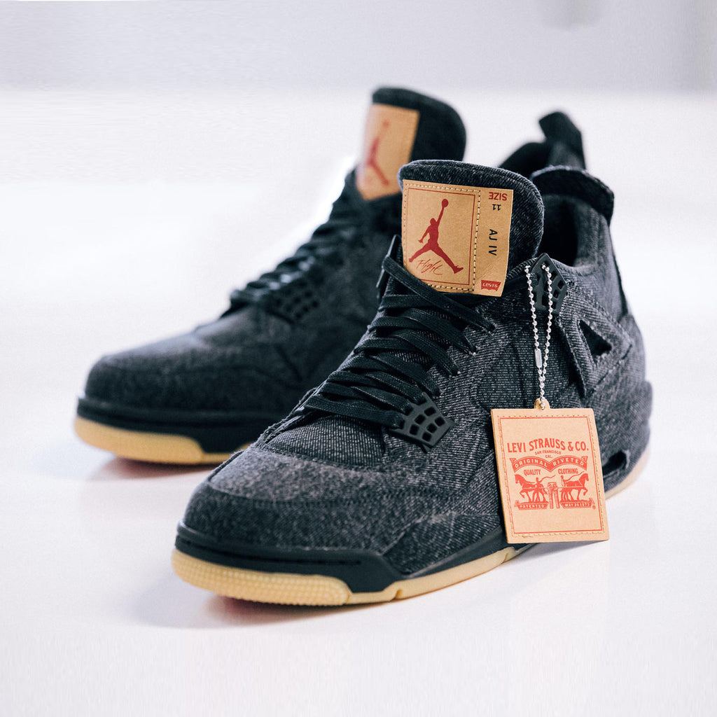 b201ba92db5 We will be receiving the Nike Air Jordan IV Retro NRG Levis in both Black  and White colorways