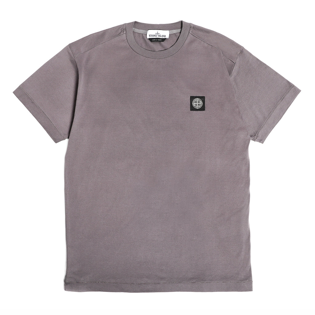 Stone Island Mercerized Cotton T-Shirt Blue Grey