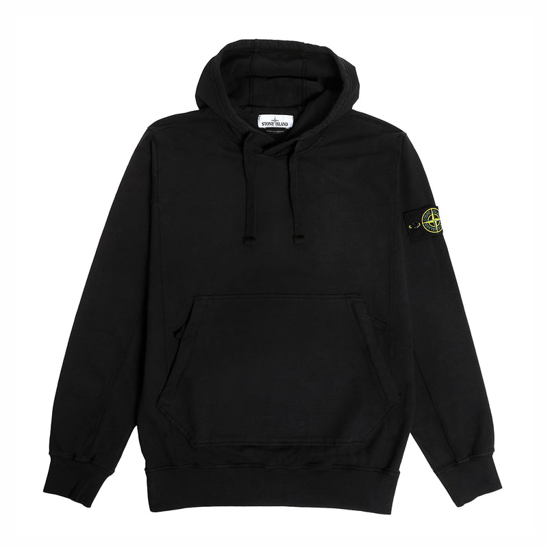 Stone Island Cotton Stretch Hoodie Black