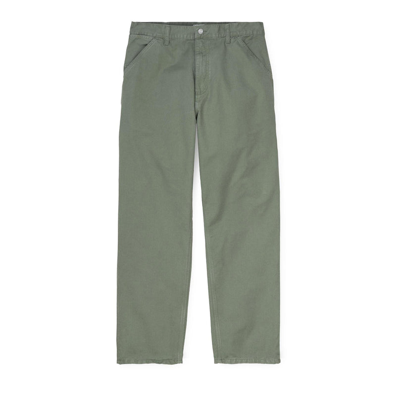 Carhartt WIP Single Knee Pant - Newcomb Drill Dollar Green