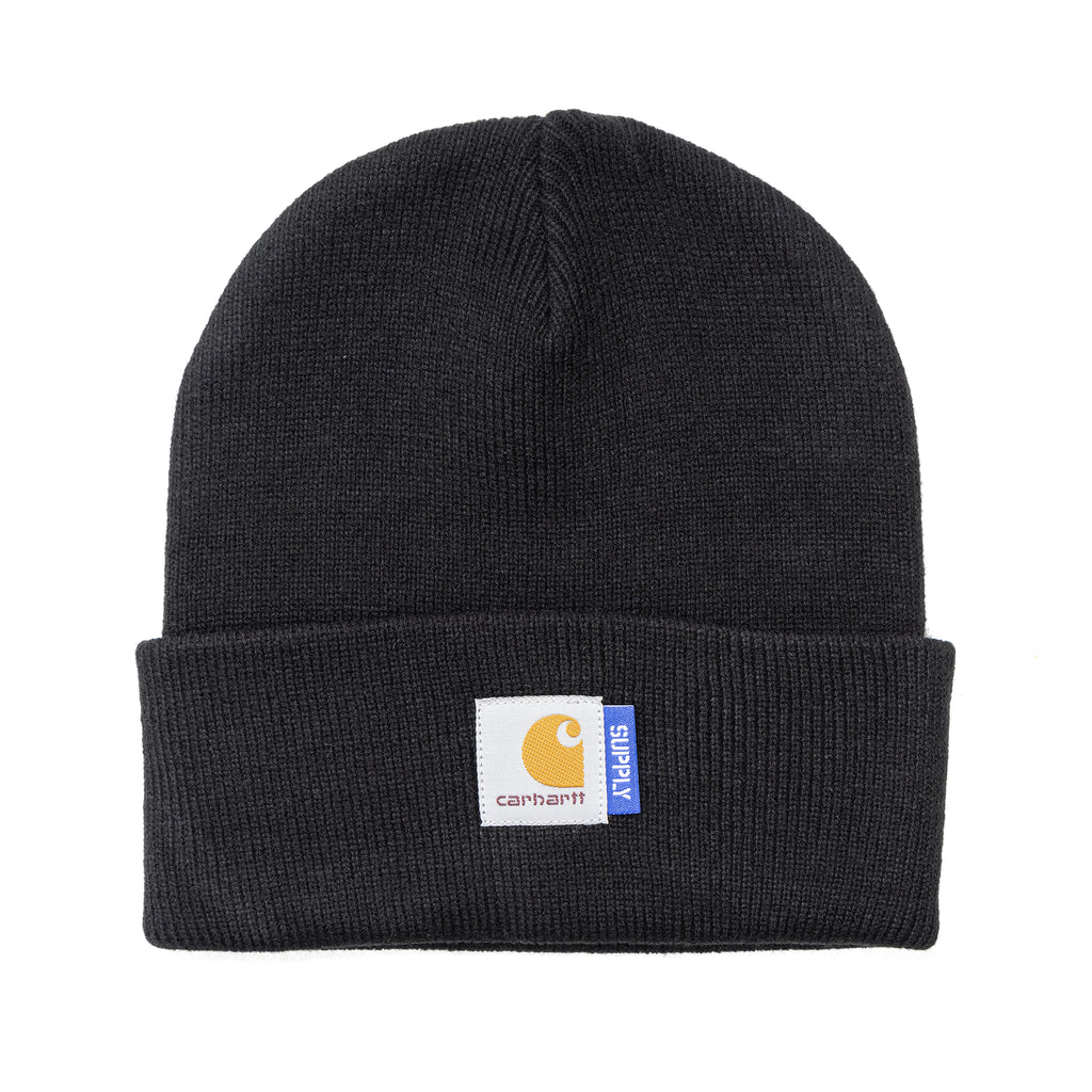 Carhartt WIP x Supply Short Watch Beanie Black