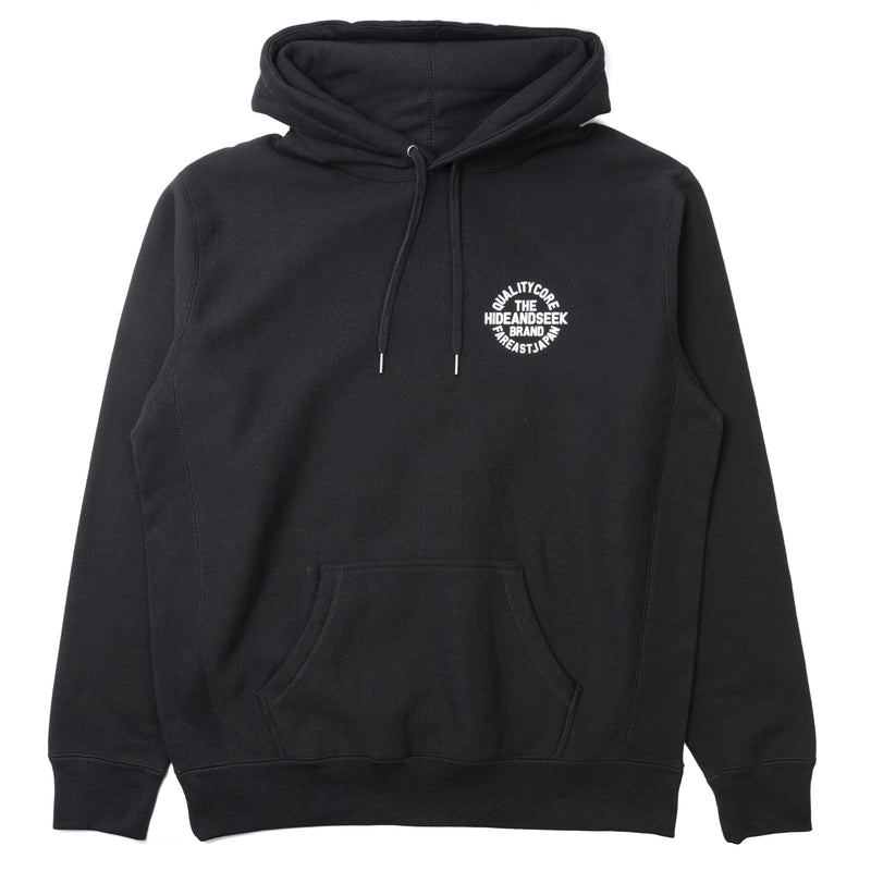 Hide and Seek Circle Logo Hooded Sweatshirt Black