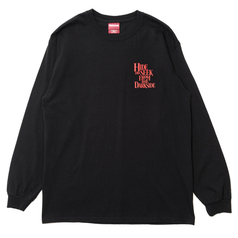 Hide and Seek From the Darkside L/S Tee Black Red