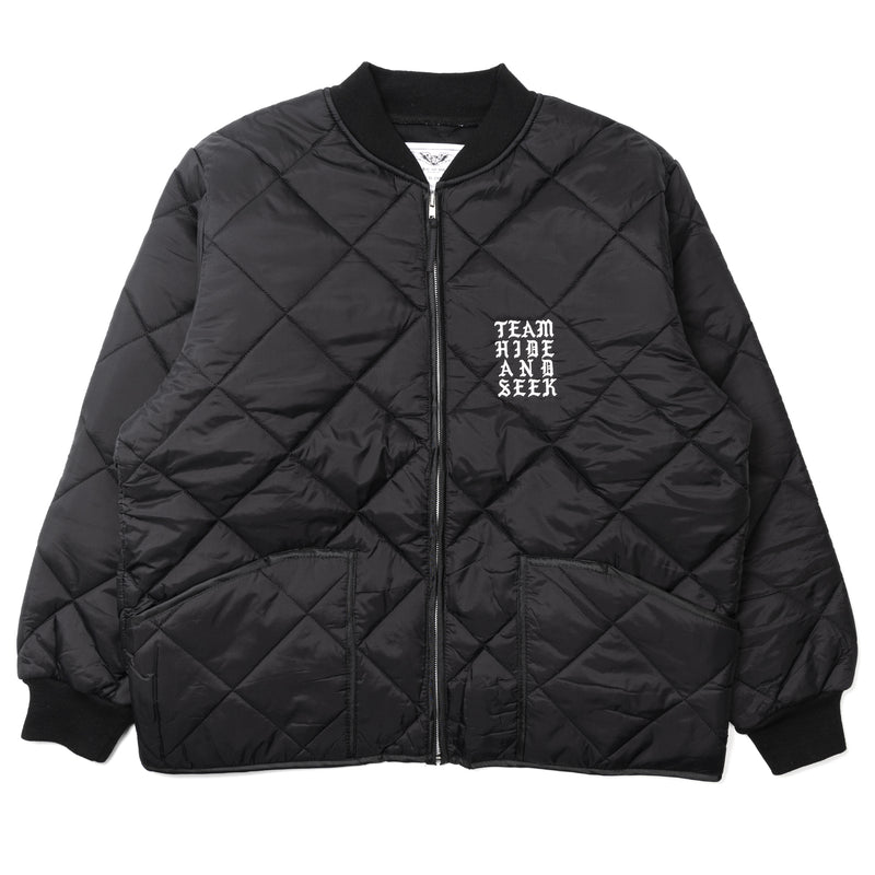 Hide and Seek Nylon Quilted Jacket Black