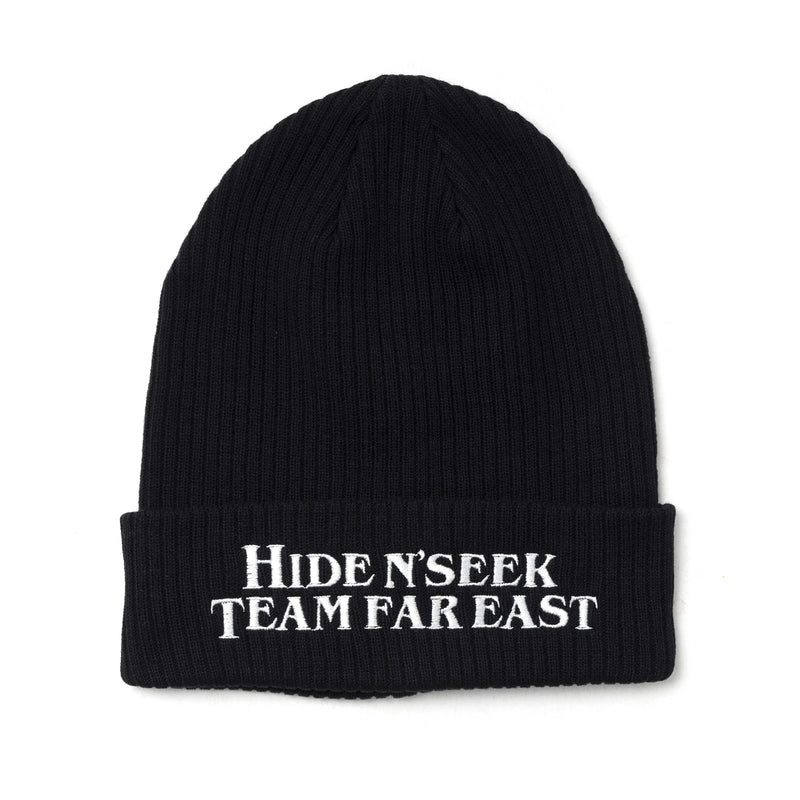 Hide and Seek Team Far East Rib Knit Cap Black