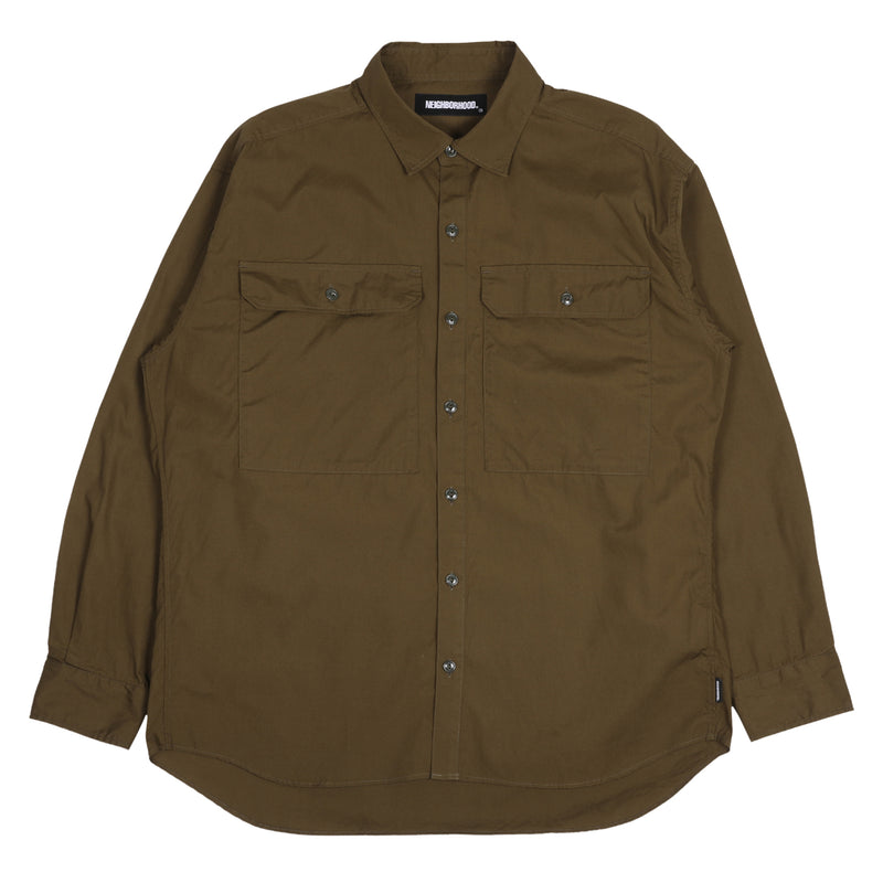 Neighborhood BP L/S Shirt Olive Drab