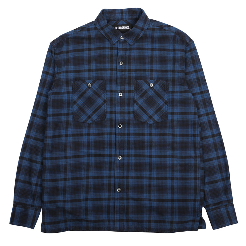 Neighborhood Logger L/S Shirt Blue