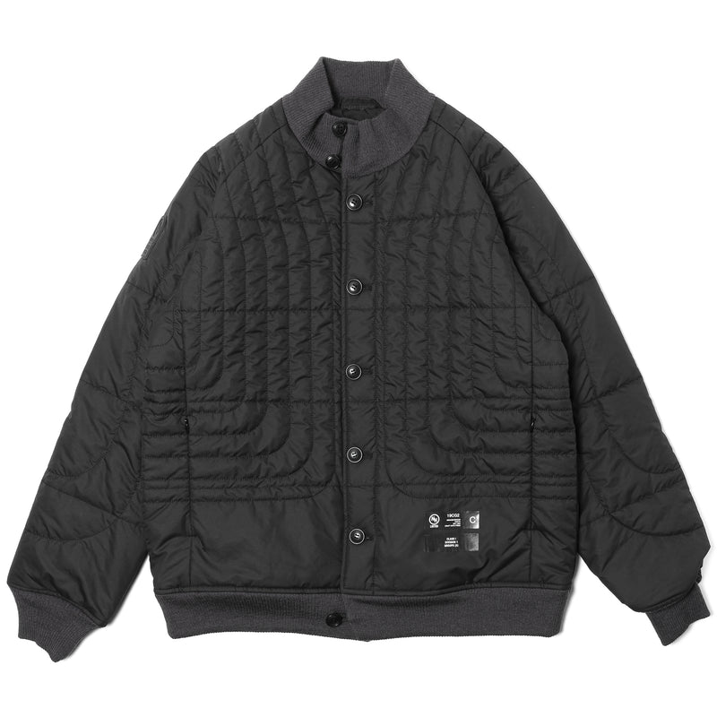 Neighborhood Design Quilt Jacket Black