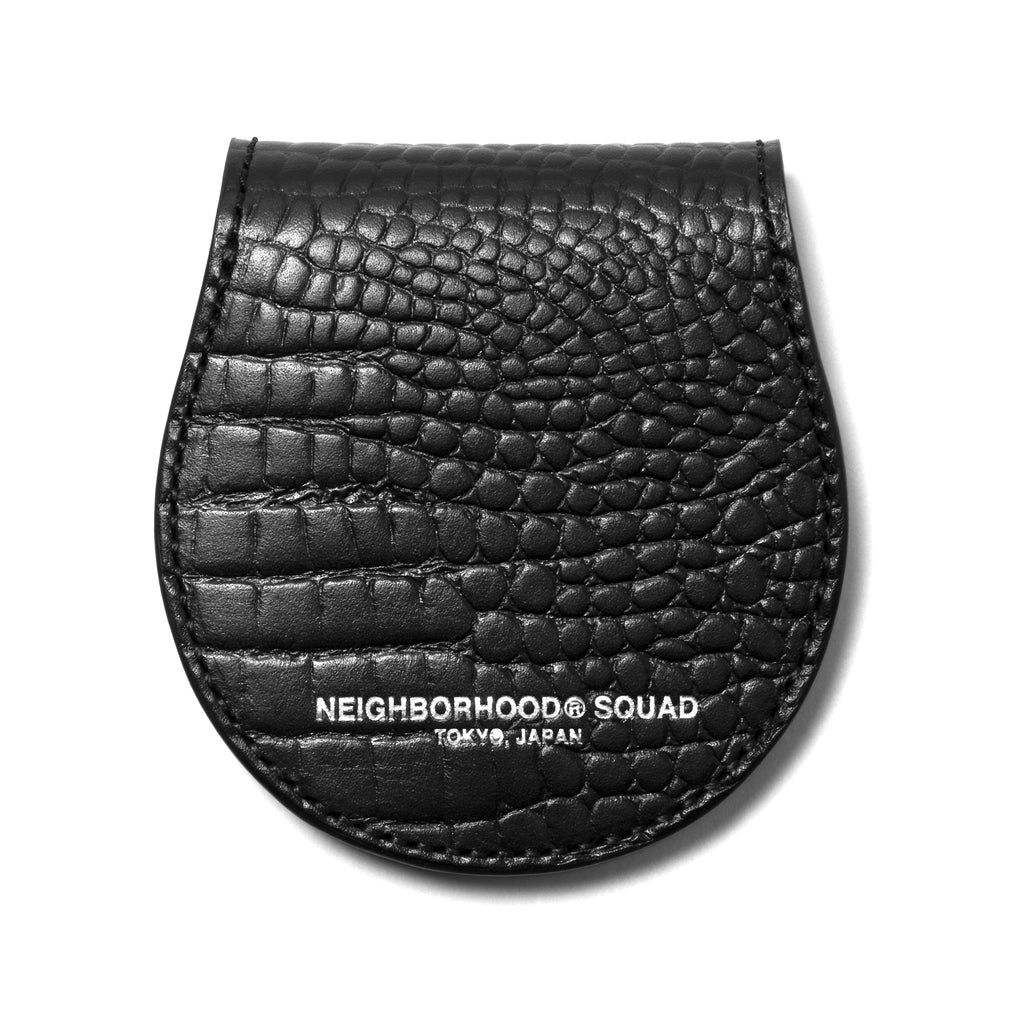 Neighborhood Dime Leather Coincase Black