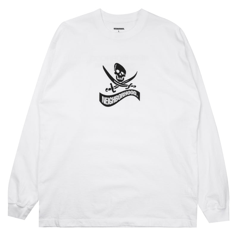 Neighborhood Distortion-1 L/S T-Shirt White