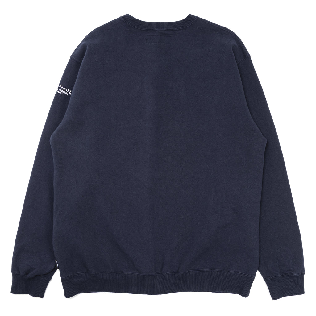 Neighborhood Light-S Crewneck Sweatshirt Navy