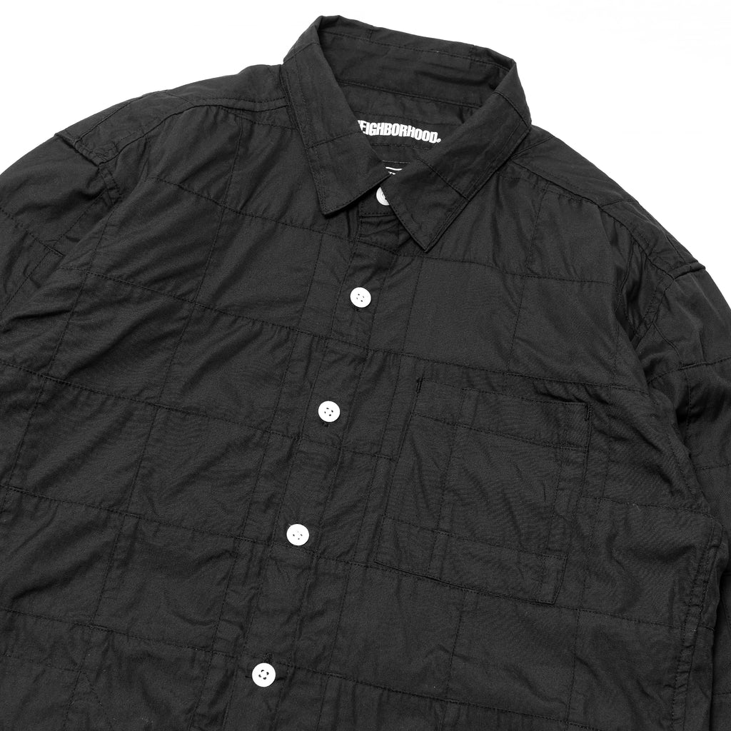 Neighborhood PW Solid Long Sleeve Shirt Black