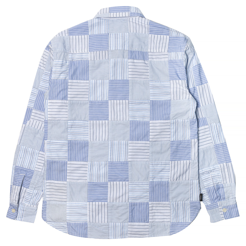 Neighborhood PW Stripe Long Sleeve Shirt Blue