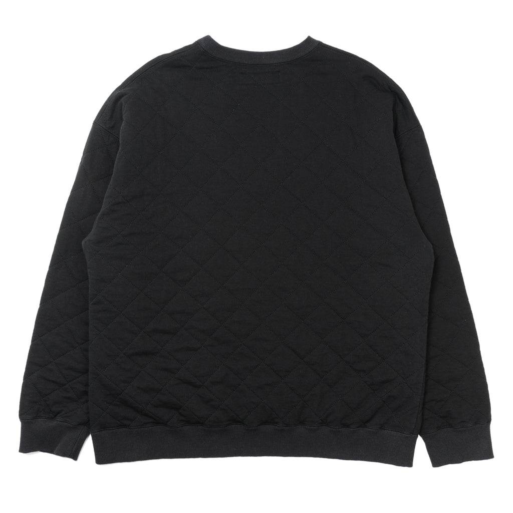 Neighborhood Quilt Crewneck Sweatshirt Black