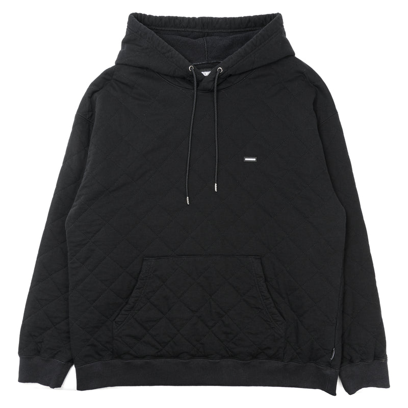 Neighborhood Quilt Hooded Sweatshirt Black
