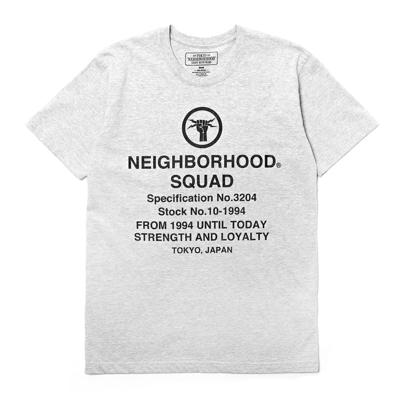 Neighborhood SQD SS T-Shirt Grey