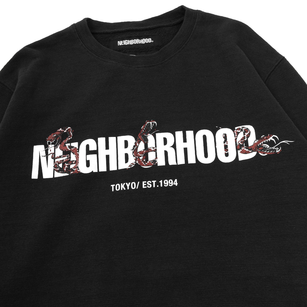 Neighborhood Slub Crewneck Sweater Black