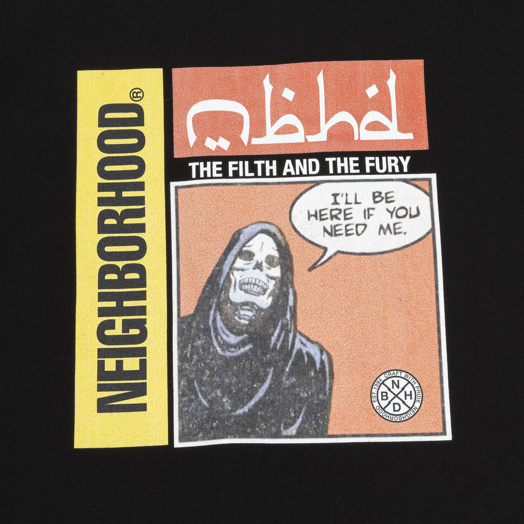 Neighborhood Tabloid-2 T-Shirt Black