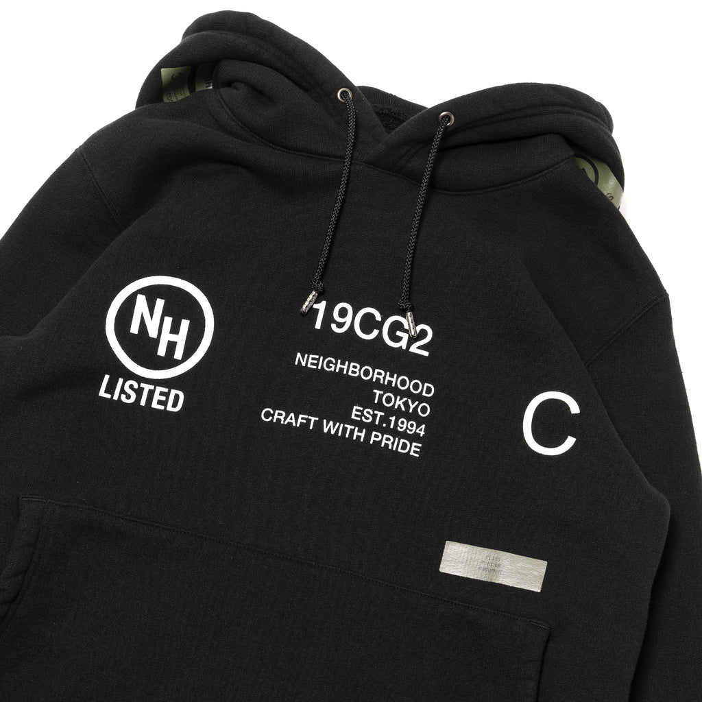 Neighborhood Thick-H Hooded Sweatshirt Black