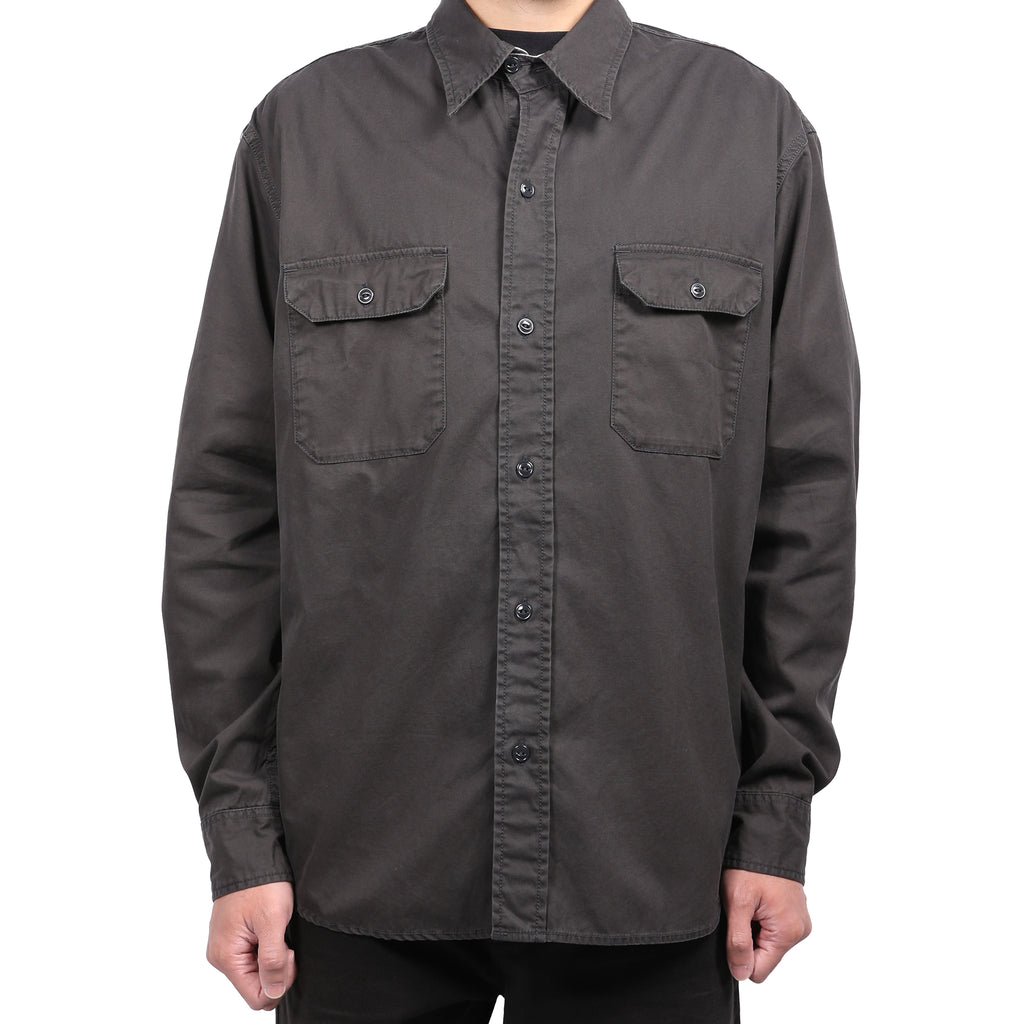 Neighborhood Twill Work L/S Shirt Charcoal