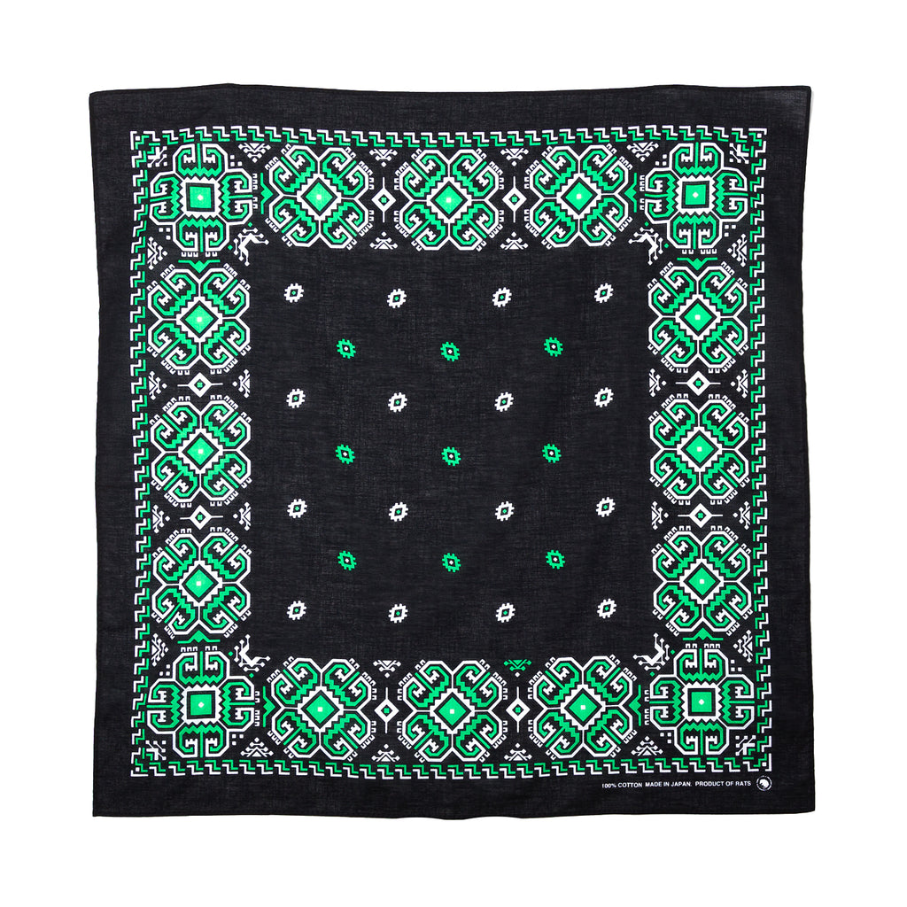 Rats Bandana Black Green