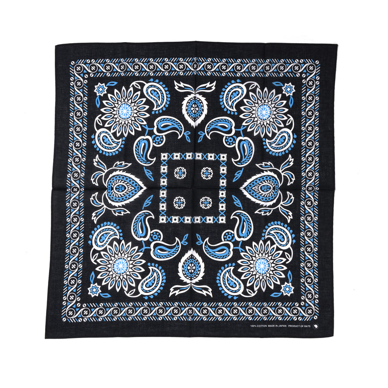 Rats Bandana Black Light Blue