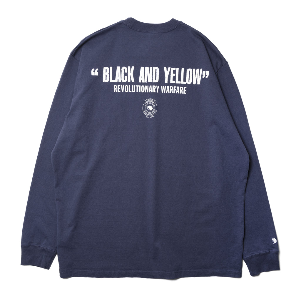 Rats Black and Yellow L/S Shirt Navy