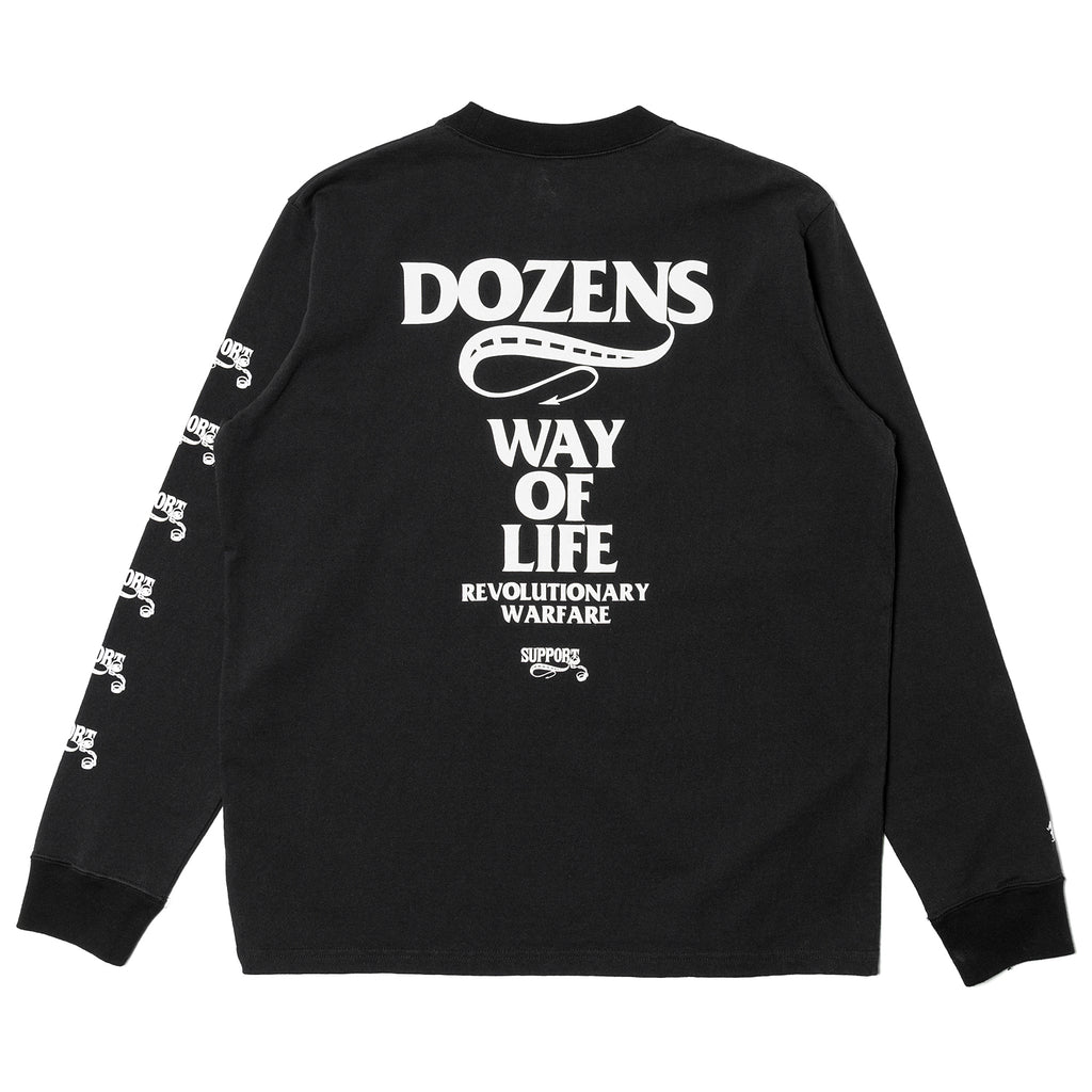 Rats Box Logo L/S Shirt Black