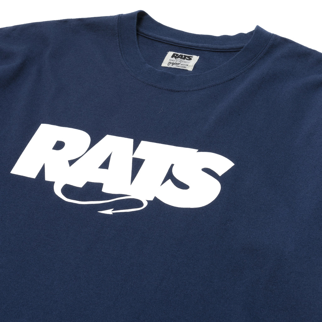 Rats Box Logo Tee Navy