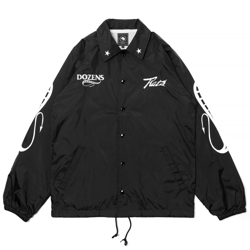 Rats Coach Jacket Reprint Black White