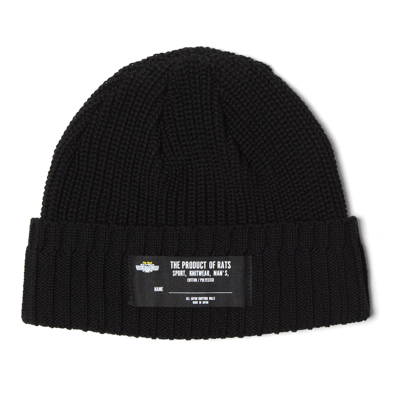 Rats Cotton Knit Cap Black