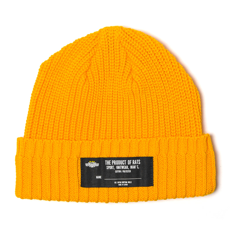Rats Cotton Knit Cap Yellow