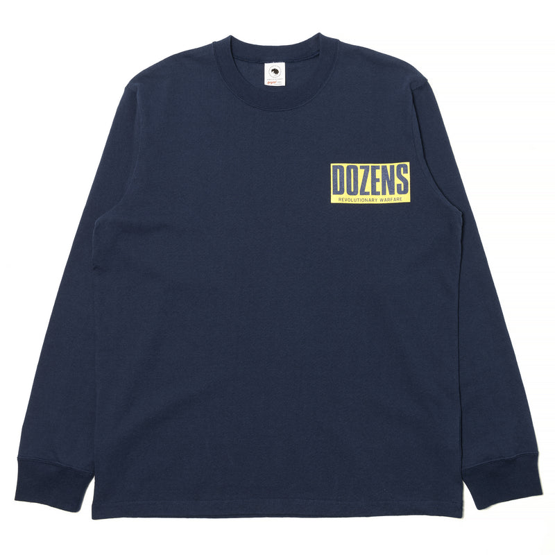 Rats Dozens Box Logo L/S Shirt Navy
