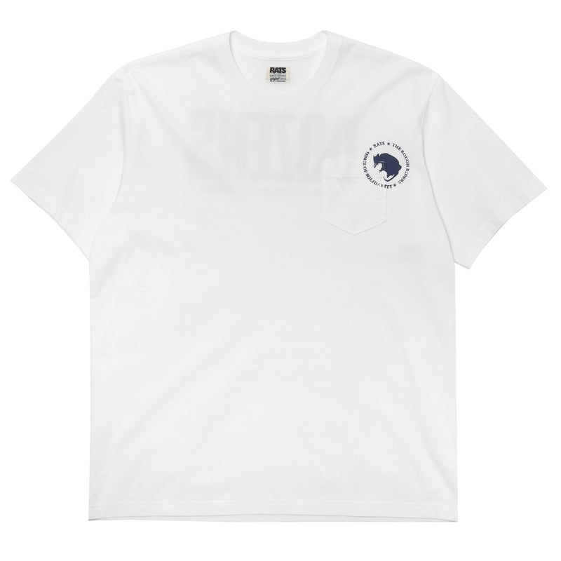 Rats Dozens Pocket Tee White