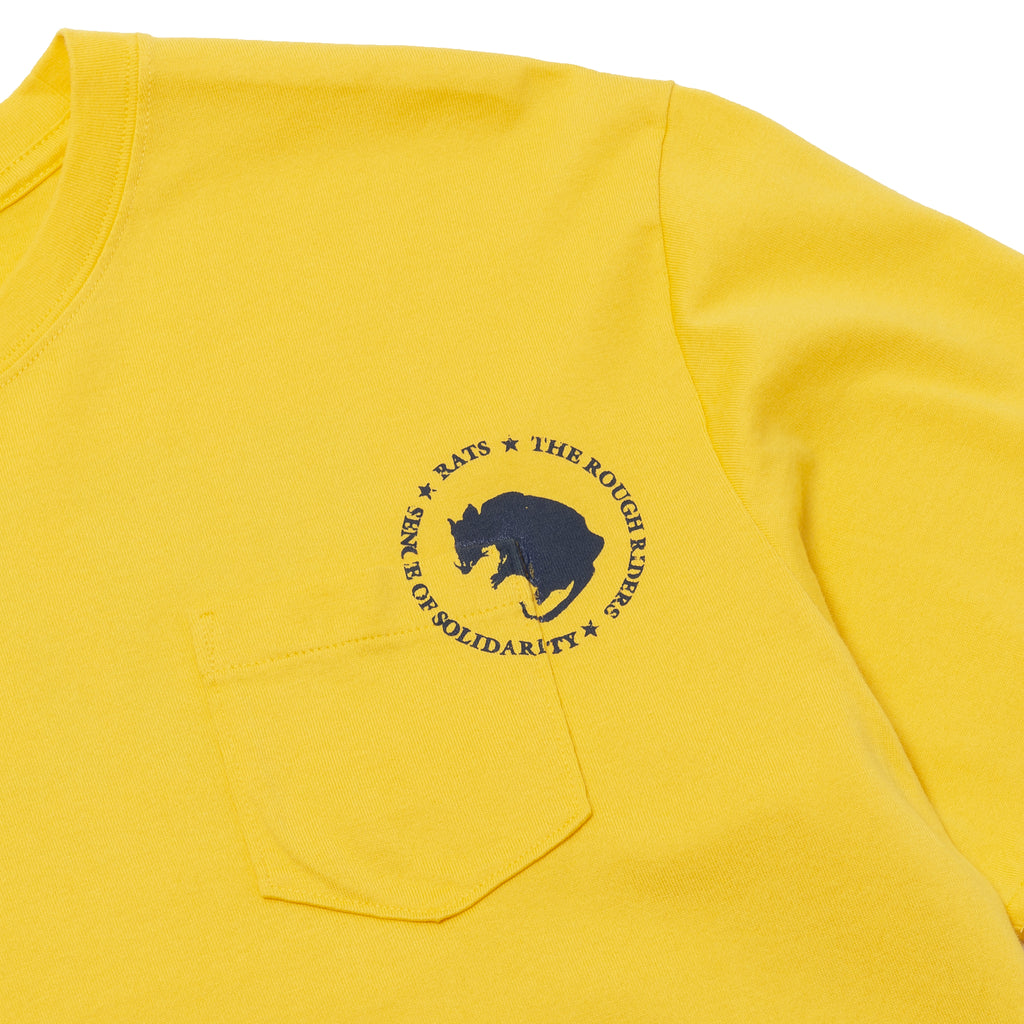 Rats Dozens Pocket Tee Yellow