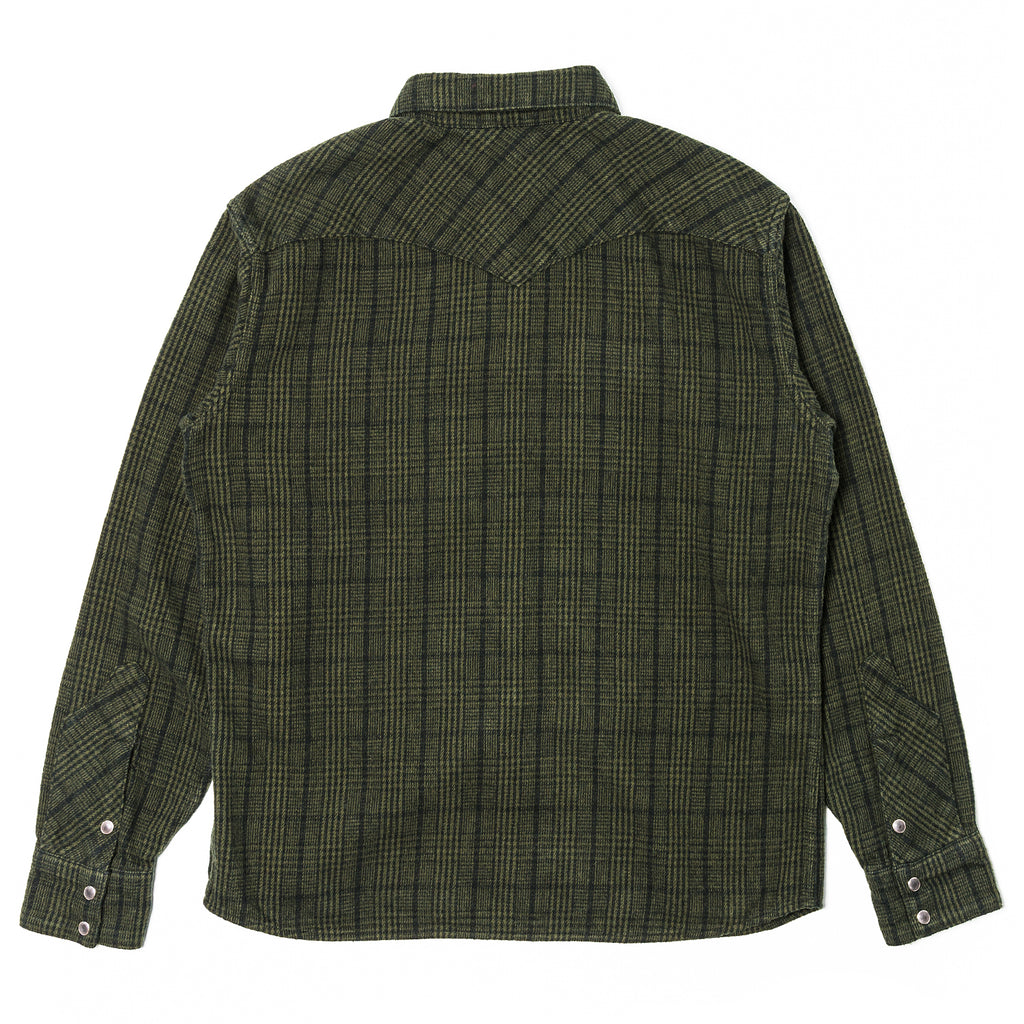 Rats Glan Check Flannel Shirt Green