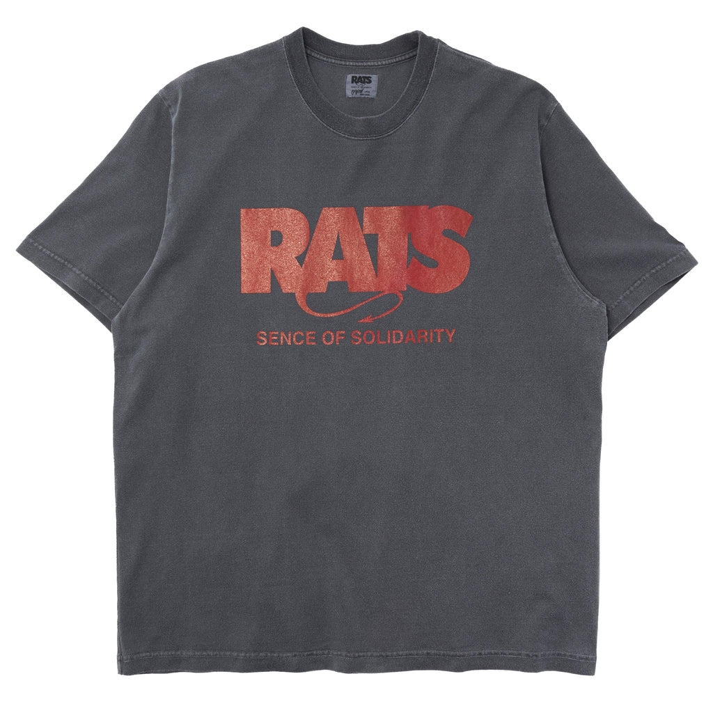 Rats Red Tag Box Logo T-Shirt Ash Gray